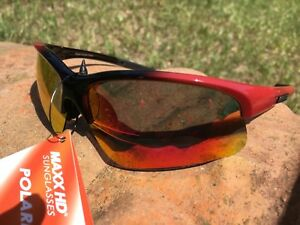 10102547fc Image is loading Maxx-HD-Sunglasses-Domain-HDP-black-red-polarized-