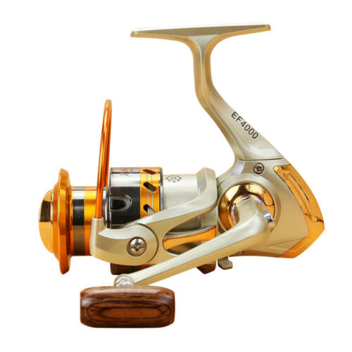 EF500-EF9000 Spinning Fishing Reel 12BB Metal Spool Folding Arm Left Right 5.2:1