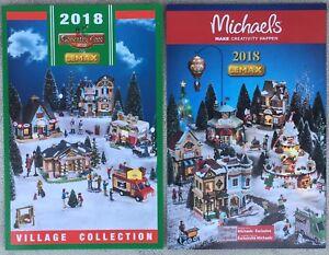 Lemax Christmas Village Michaels.Details About 2018 Lemax Christmas Holiday Village Set Kmart Michael S Brochure Pamphlet Set