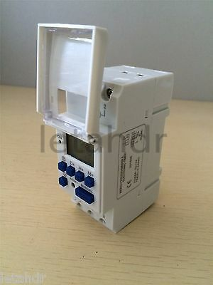 Digital LCD Programmable Timer 12/24/110/220V 16A Time Control Relay Switch