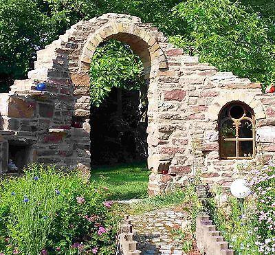 Streng 0,5 Qm Trockenmauersteine Natursteine Buntsandsteine Sandsteinmauer Garten Ruine