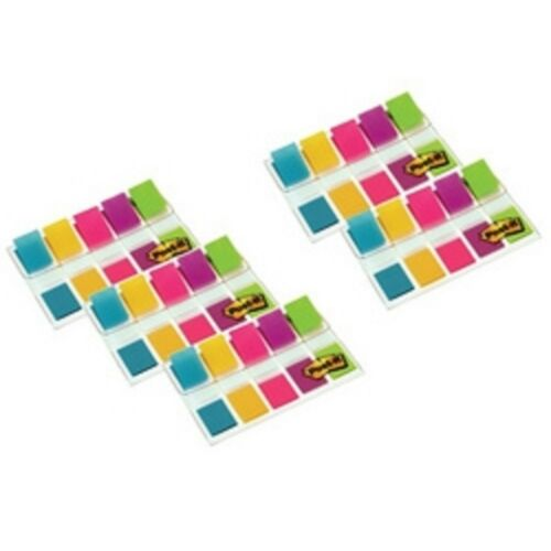 Post it Haftmarker Mini Farbig sortiert Klebezettel Zettel Marker 5 Spender