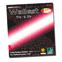 Nittaku Wallest Table Tennis Rubber / Black Red (1.1mm / 1.3mm) Long-pimples