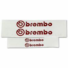 2x 105MM and 2X 40MM SUBARU STI BREMBO RED REFLECTIVE CALIPER STICKERS