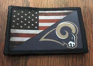 LA-RAMS-USA-FLAG-Morale-Patch-Tactical-Military-Army-Baseball-Hook