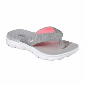 5cac61a084d2 Skechers Women s on The Go 400 Vivacity Flip Flops Size 8 Gray Pink ...