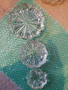 NestingStacking set of 3 ashtrays FREE SHIPPING