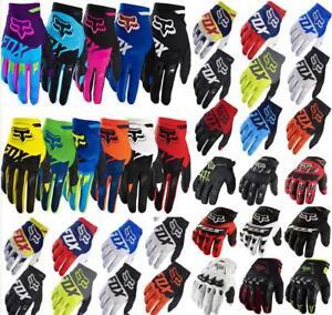 FOX-Full-Finger-Cycling-Bike-Motorcycle-Motorcross-Offroad-Men-039-s-Sports-Gloves
