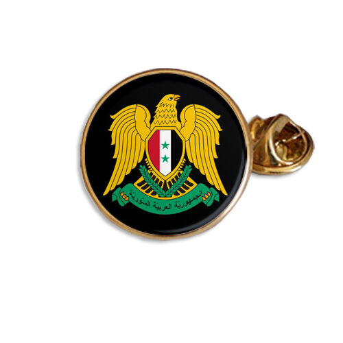 SYRIA SYRIAN COAT OF ARMS ENAMEL  LAPEL PIN BADGE GIFT