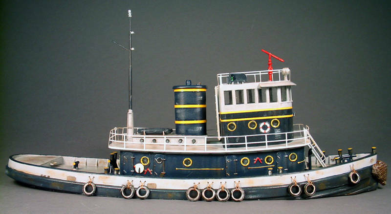 92 'DIESL RAIRLROAD TUG båt HO Waterline Hull Obästeämd Ship hkonsts Kit FR211