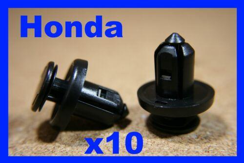 10 HONDA elementi di fissaggio Trim CLIPS bumper fender FASCIA Rivestimento Pannello PANNELLO PORTA