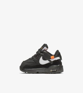 Details about Nike x Off White Air Max 90 Black White The 10 Ten Virgil Abloh Toddlers TD 10C