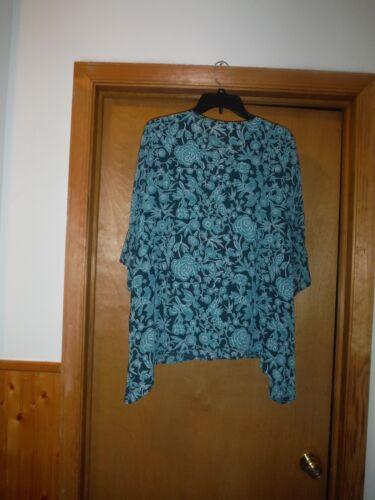 3//4 Angle Sleeve Blouses LC Lauren Conrad XL,L,M,Multi Gren Asymetrical Hem NWT