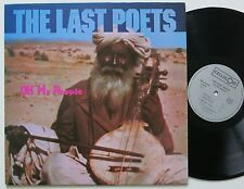 THE LAST POETS / BERNIE WORRELL OH MY PEOPLE CELLULOID LP 1984 VG++/MINT-