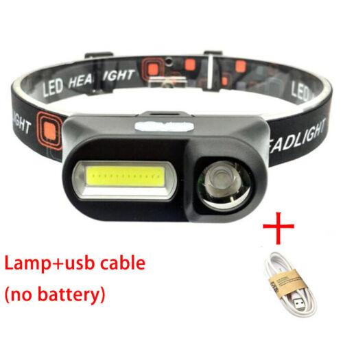 7 Modes USB Rechargeable Headlamp COB LED Headlight Head Light Torch Flashlight