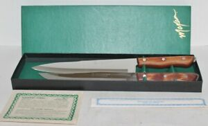 Details About Vtg Set 2 Maxam Steel Precision Hollow Ground Kitchen Chef Carving Knife Mib