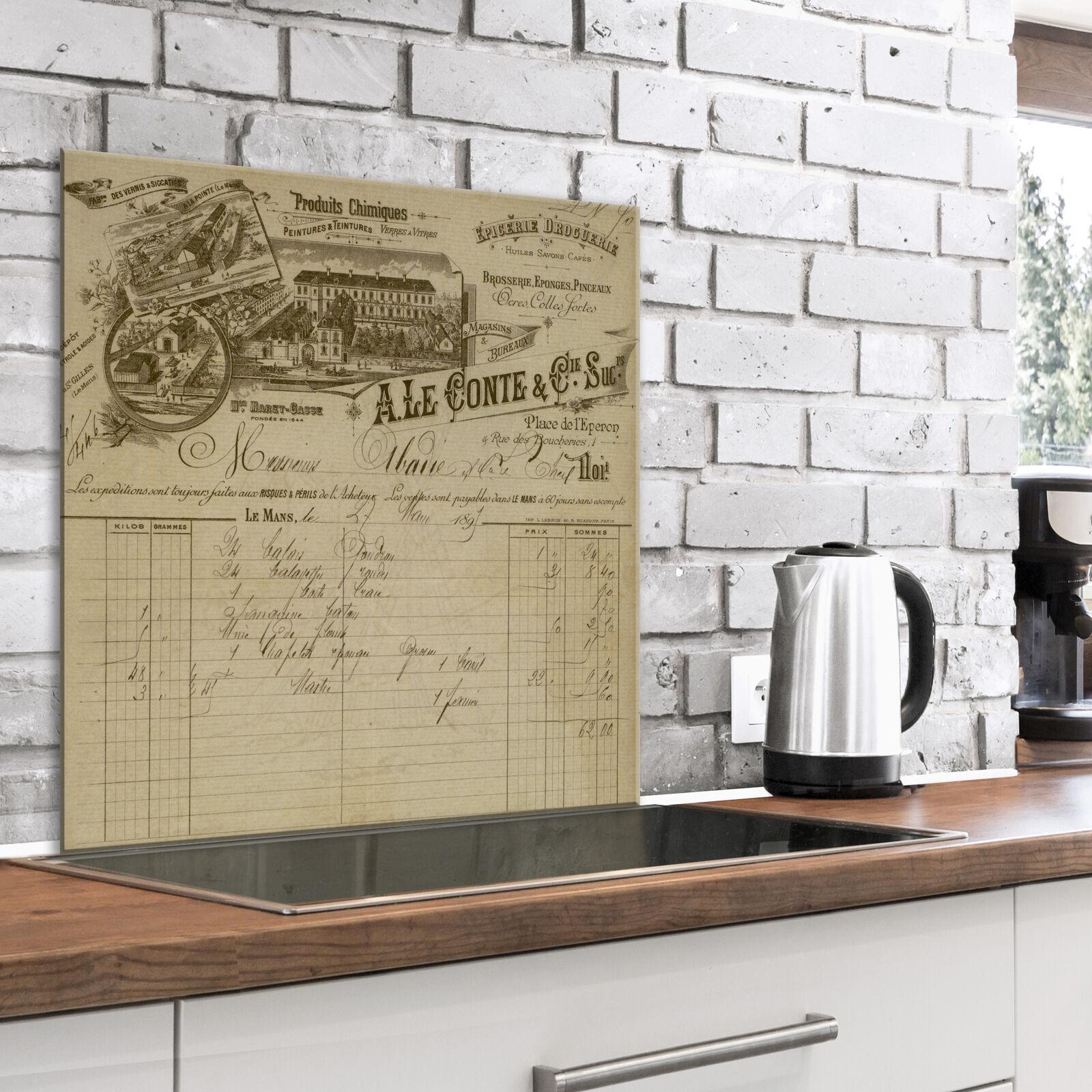 Glasbild 80x80 cm Wandbild Glas Küche Küchenrückwand Spritzschutz n-A-0990-aq-a