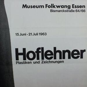 Hoflehner-Rudolf-altes-DIN-A0-Plakat-1963-Museum-Folkwang-Essen-60er-Jahre-alt