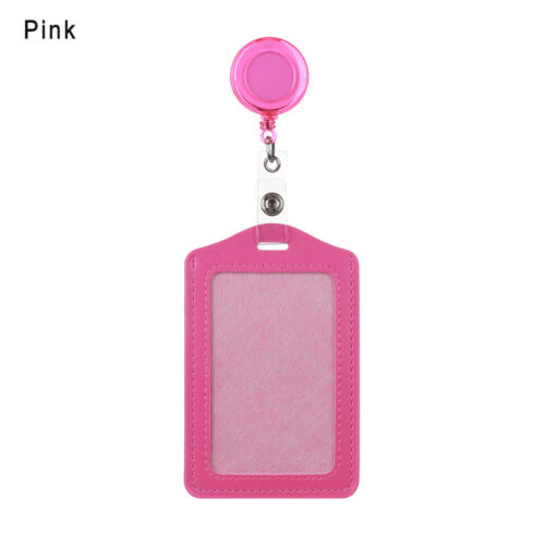 1x Retractable Reel Recoil ID Badge Lanyard Name Tag Key Card Holder Belt Clip
