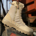 Mens Desert Army Force Military Lace Up Tactical Outdoor Combat Comfy Ankle Boot