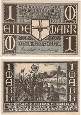 Germany 1 Mark 1920 Notgeld Marienburg UNC Banknote - Knights Army