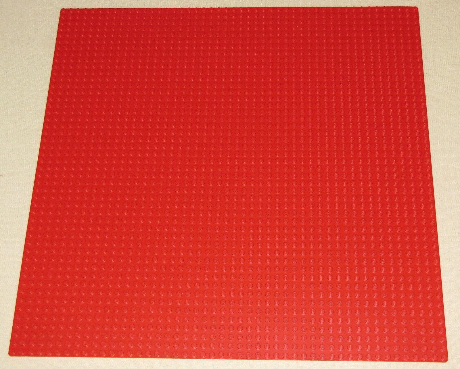 LEGO nuovo grande 48 x 48 punto 38.1x38.1cm ROSSO piastra di base pezzo di piattaforma