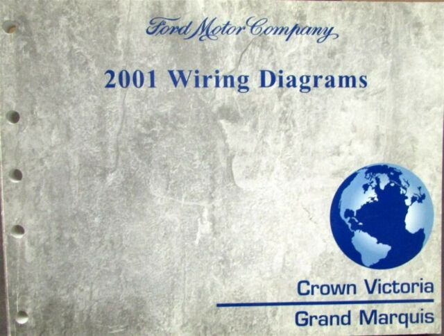 2001 Ford Mercury Electrical Wiring Diagram Manual Crown