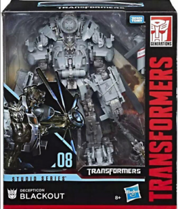 HASBRO TRANSFORMERS STUDIO SERIES 08 LEADER CLASS DECEPTICON BLACKOUT FIGURE