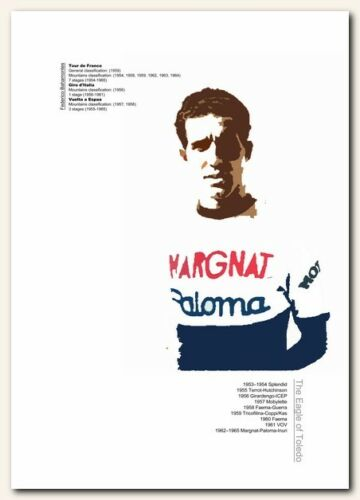 Federico Bahamontes❤ Cycling typography poster art limited edition print vintage