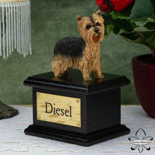 Casket Yorkshire Terrier Solid Wood Dog Black Cremation Urn
