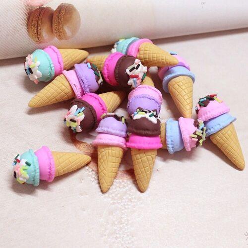 4 Dolls House Miniature Kitchen Food Dessert Clay Ice Cream Cone Accessory 1//6