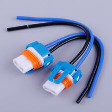 2x 9006 HB4 Ceramic Socket Bulb Holder Adapter Replace Connector Wire Harness