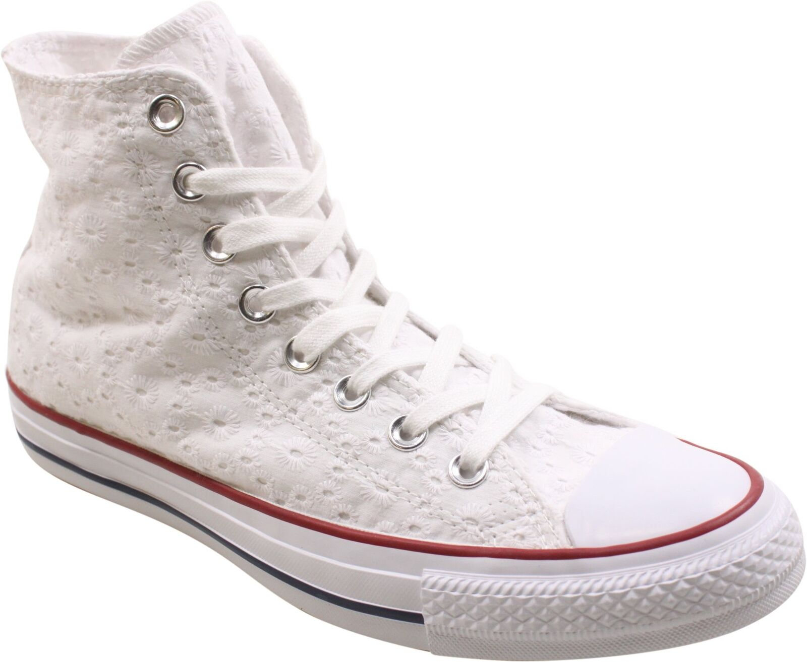 Converse Donna  Chuck Taylor All Star Star Star High bianca Garnet Clematis blu scarpe da ginnastica cf802e