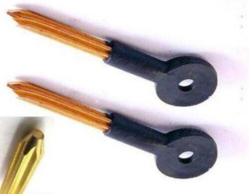 2 Security Bolt Keys Brand New Suitable For Chubb Bolt Locks Budge Mortise Pair