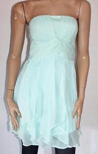 Striking-Designer-Blue-Chiffon-Strapless-Cocktail-Dress-Size-10-BNWT-sc30