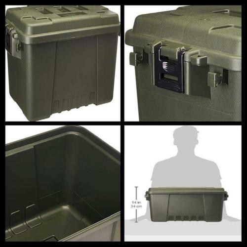 Plano 56 Quart Tub Heavy Duty Lockable Storage Box Trunk Storage Boxes Basket US