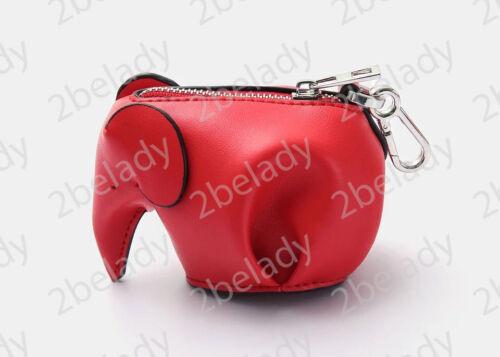 Leather Mini Keychain Elephant Coin Purse Charm 1lFTKJc