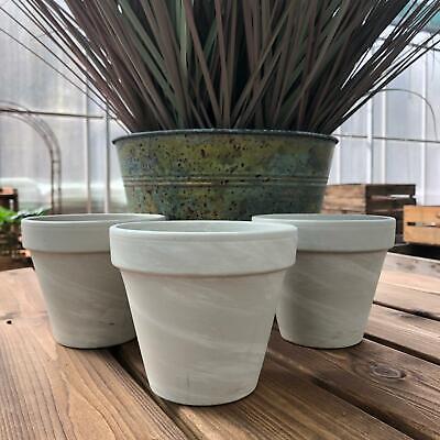 Cream ceramic trough style planter flower plant pot vintge shabby chic ornament