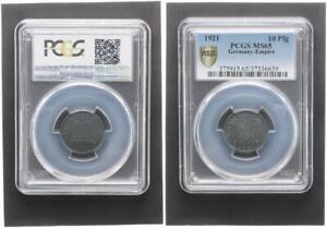 10 Peniques 1921 sin Circulación PCGS Ms 65 (36738)