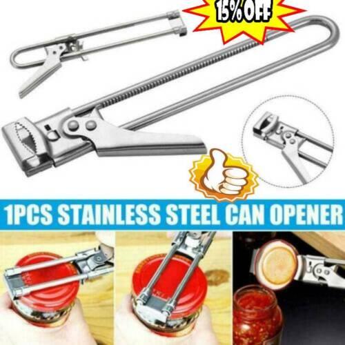 Adjustable Bottle Openers Multifunctional Beer Stainless Steel Jar Lid Grippers