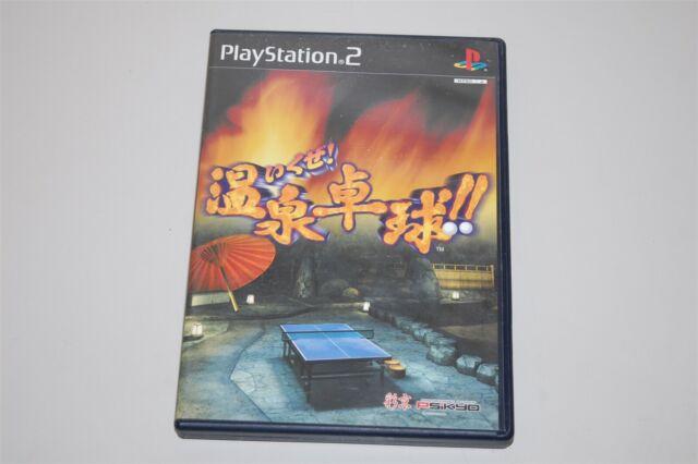 Ikuze! Hot Springs Table Tennis Japan Sony Playstation 2 PS2 game