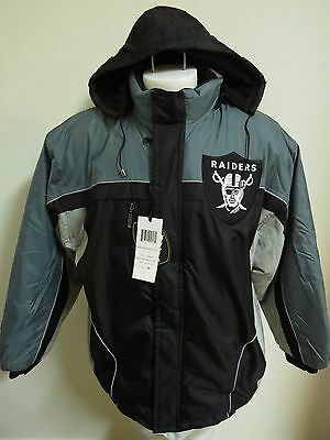 NEW M-5XL Black/Gray Oakland Raiders Hooded MENS #97D Lined Zip Up Coat Jacket