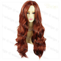 Wiwigs Fabulous Copper Red Long Wavy Layered Skin Top Ladies Wig
