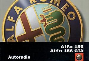 Alfa Romeo 156 156 GTA autoradio manual de instrucciones 2002 manual RN