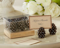 144 Fall Winter Pine Cone Place Card Photo Holder Wedding Favors