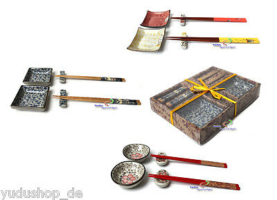 6 pieces Dinner serivce Set Asia Sushi Dishes Service for 2 Person Gift box