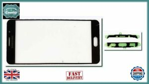 Samsung Galaxy A7 2016 A710F Front Outer Touch Screen Lens Glass + Adhesiv BLACK