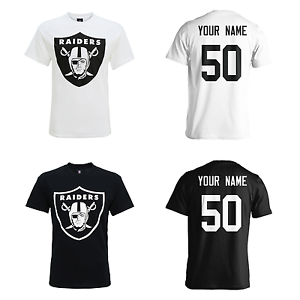PERSONALISED Oakland Raiders Adult Kids NFL TShirt Name Number AMERICAN FOOTBALL