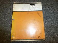 Case W14 Feedlot Wheel Loader Parts Catalog Manual Book A1370