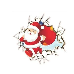Weihnachten-Wandtattoo-Merry-Christmas-Winter-Wandsticker-Weihnachtsmann-Sticker